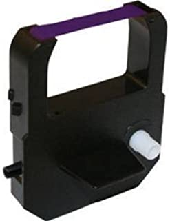 (1 Pack) Widmer T4U / T247 / N247 Time Clock Replacement Ribbon Cartridge (Purple Ink)