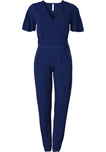 Sheego Overall Einteiler Jumpsuit blau Gr. 50 52 oder 54 NEU Kurzarm