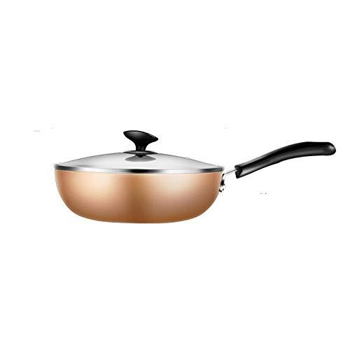 ZLDGYG Poêle Non Stick Cuisinière à gaz Multi Fonction Marmite Moins Pan Ménage Wok Fumée