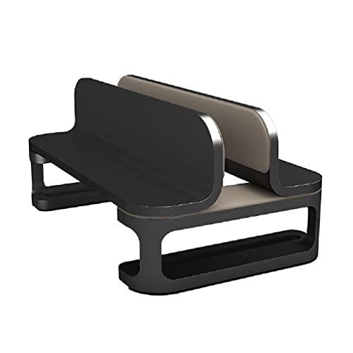 Vertikale Kühlung Laptop-Ständer, Aluminium, Einzel-/Doppel-Tischhalterung, verstellbare Dockingstation für Notebook, MacBook und mehr PC-Ständer für Desktop