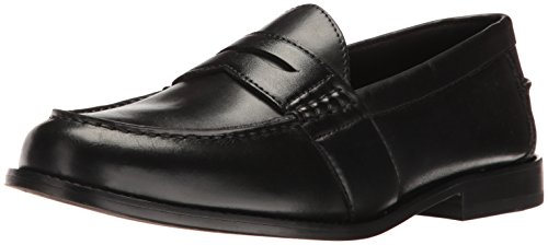 Nunn Bush Men's Noah Penny Loafer Dress Casual Slip On Shoe, Black, 8.5 Wide
