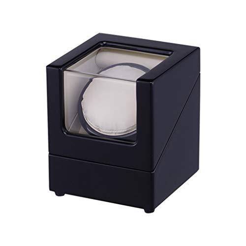 CHYOOO Reloj Caja Estuche Relojes,Caja Bobinadora, Motor Calidad,Diseño Antimagnetico,5 Modos de Rotación Caja Almacenamiento Reloj (Color : Black-Natural, Size : 13x13x15.5cm)