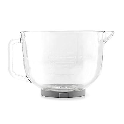 Klarstein-Bella-Glass-Bowl-Glasschssel-Rhrschssel-Zubehr-fr-Bella-2G-Kchenmaschinen-25-Liter-bruchresistent-eingeprgte-Skalen-in-Litern-und-Millilitern-24-x-17-x-30-cm-BxHxT