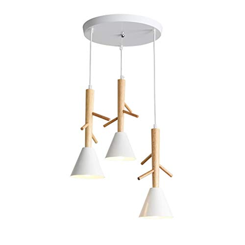 Chandeliers Chandelier Modern Simple Wood Art Living Room Decor E27 Ceiling Lamp Bedroom Dining Table Kitchen Clothing Shop Pendant Light Pendant Light C-L, a