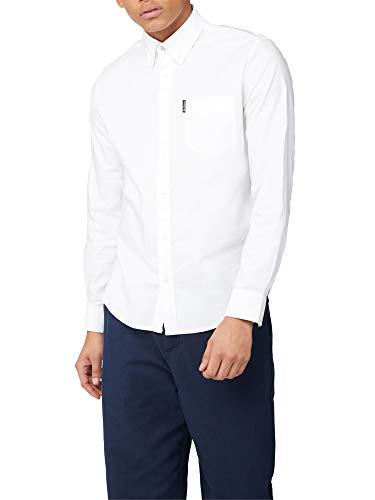 Ben Sherman Herren Ls Signature Oxford Shirt Freizeithemd, Weiß (White 10), XXX-Large