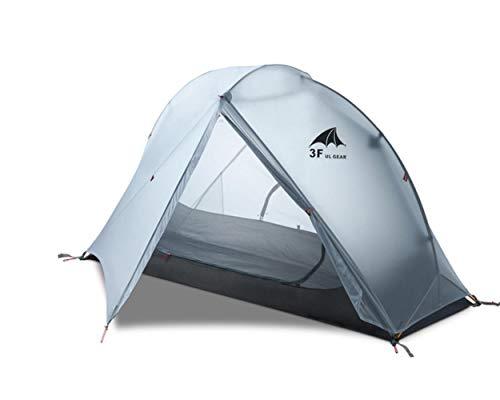 BVYO Schwimmende Zelte Campingzelt 1 Person Ultraleichtes Wandern Rucksackwandern Jagd wasserdichte Zelte, 3 Jahreszeiten grau