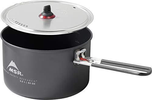 MSR Ceramic Nonstick 2.5-Liter Camping Pot with Fusion Coating, Black