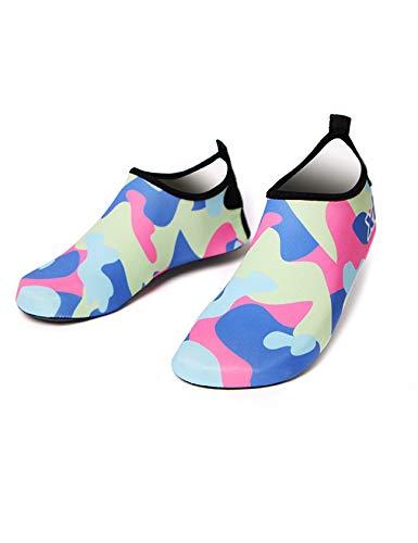 Bestgift Zapatillas de baño para hombre y mujer, de secado rápido, antideslizantes, para la playa, color Azul, talla 37.5 EU Schmal
