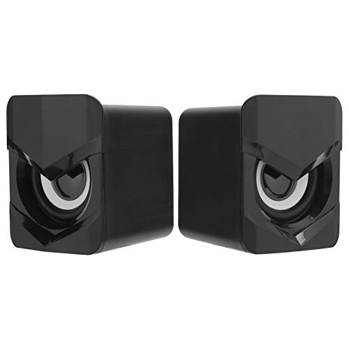 Vbestlife1 Mini Altavoces estéreo de Escritorio, Altavoces de Alta fidelidad para computadora V ‑ 158, Altavoces con Cable USB, con Control de línea Independiente, Potente subwoofer