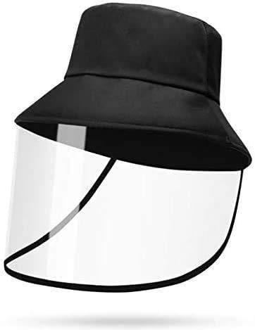 Full Face Protective Sun Bucket Hat Fisherman Hat for Men/Women… Black