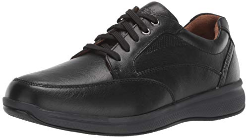 Florsheim Men's Great Lakes Moc Toe Walk  Sneaker, black tumble, 7.5 Medium US