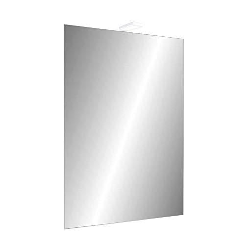 EVERARD - Specchiera Rettangolare 65x45 Illuminata a Led
