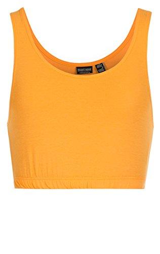 Eight2Nine Damen Tanktops Crop Top/Kurztop Tops 15824, Middle orange (11300), L
