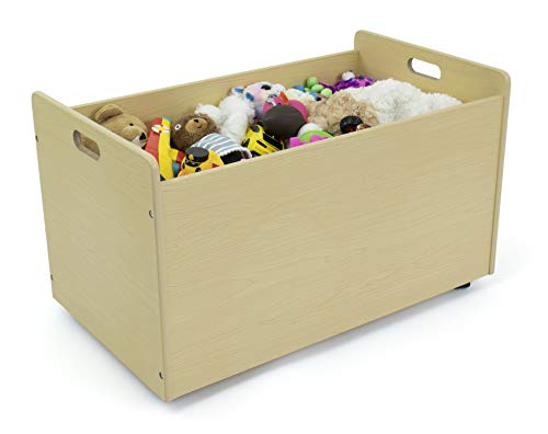 Humble Crew, Natural Toy Box with Wheels