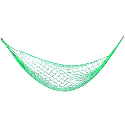 XYX Hamaca portátil Meshy Cuerda Hamacas de Cama para Dormir Cama Colgante de Nylon para jardín de Playa al Aire Libre. (Color : Green)