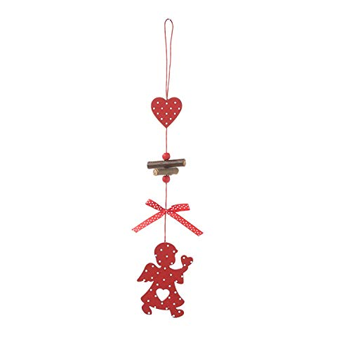 Sweet-Cupid New Wooden Pendant Christmas Tree Creative Christmas Party Decoration Pendants Tree Toy Hanging Decorations Enfeites De Natal#30,C