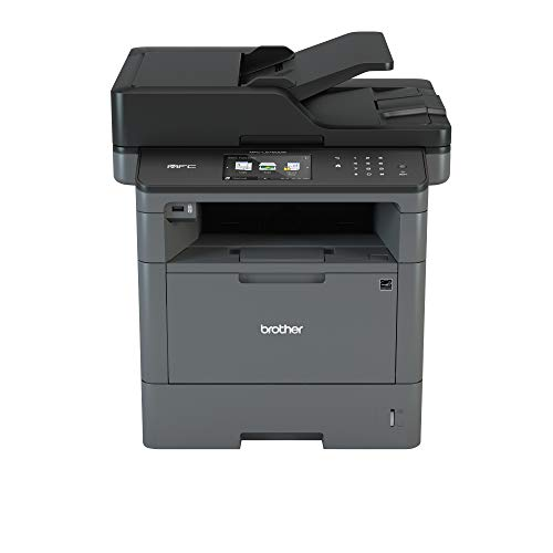 Brother MFCL5750DW Stampante Multifunzione Laser con Fax, Bianco e Nero, 40 ppm, Rete Cablata, Wi-Fi, Stampa, Copia e Scansione Fronte/Retro Automatica, Display Touchscreen a Colori da 12.3 cm