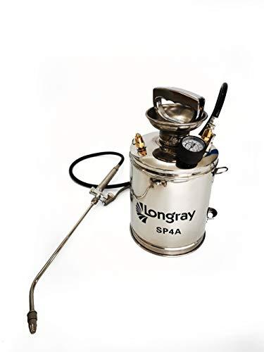 Longray SP4A Stainless Steel Sprayer, 1 Gallon, Metallic