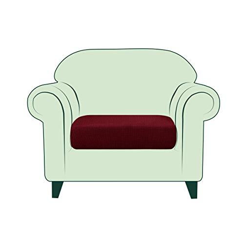 CHUN YI Funda de Asientos de Sofá Elástica y Funda de Cojines de Sofá Suave Duradera para Protector de Asientos, Antimanchas Antibacterias y Cubierta de Parte Dañada (1 Plaza, Vino Rojo)