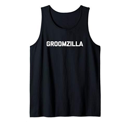 Mens Funny Groom Shirt: Groomzilla T-Shirt bachelor party groom Tank Top