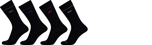 CR7 Herren 4-Pack Mens Giftbox Socken, Black, 40-46