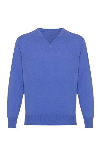 Lona Scott - Jersey de cachemira para hombre, V Neck azul eléctrico...