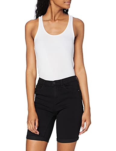 ONLY Damen Onlrain Mid Long Cry6060 Shorts, Schwarz (Black Black), W(Herstellergröße: M)