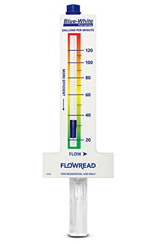 Blue-White Pool Flowmeter for 2.00