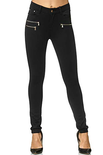 Elara Damen Stretch Hose Skinny Fit Jegging Chunkyrayan H86 36 (S)