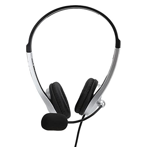 SALUTUY Auriculares con Cable de 3,5 mm, Auriculares en la Oreja Que Tienen Muchos usos con micrófono para Reproductor de Juegos para videoconferencia