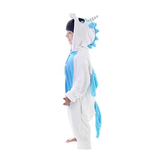 LSERVER-Bambini Unisex Kigurumi Pigiama Onesize, Bambine Animale Cosplay Halloween Natale Party Costume Attrezzatura Sleepwear