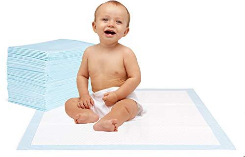 Krankenunterlage für Menschen mit Blasenschwäche | | 6-lagig saugstarke Inkontinenzunterlage 40 x 60 cm | Ideal auch für Babys oder als Welpenunterlage (100 Stück)