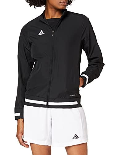 adidas T19 WOV JKT W Chaqueta de Deporte, Mujer, Black/White, M