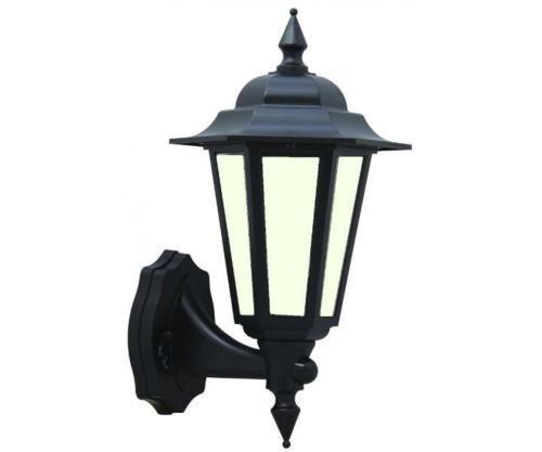 LED Outdoor schwarz traditionellen Stil 7Watt LED Wand-Laterne integrierter LED-Diffuses ideal für Deko Outdoor Nutzung [Energieeffizienzklasse A +]