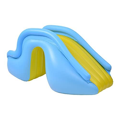 keleiesXD Centro de Juegos inflables con tobogán a Gran Escala Sala de Salto Inflable con trampolín tobogán acuático con tobogán Centro de Juegos inflables Capable