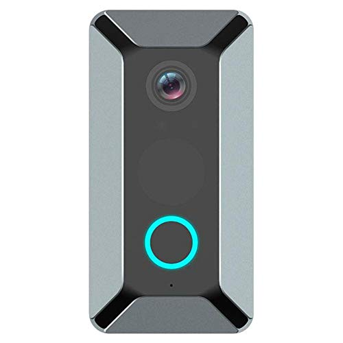 Wifi Video Deurbel, 1080P Deurbel Camera Met Gratis Gong, Draadloze Deurbel Met Bewegingsdetector, Waterdicht, Nachtzicht 140 ° Groothoek, 2-Weg Audio, 2,4 Ghz Wifi,Gray