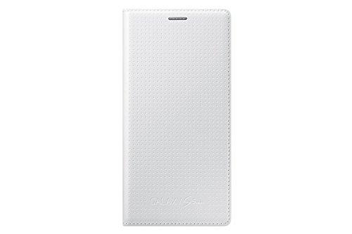 Samsung Flip Wallet Hülle Case Cover für Samsung Galaxy S5 Mini Punching Pattern - Glänzend Weiß