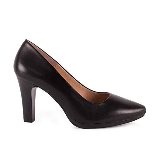 Chamby 4330 -Zapatos de Salon con Tacon Alto y Plantilla Acolchada (38, Negro)