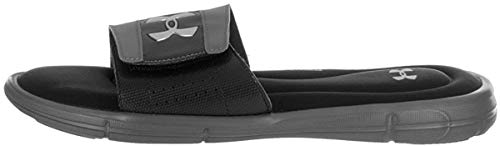 Under Armour mens Ignite V Slide Sandal, Graphite (040)/Black, 11