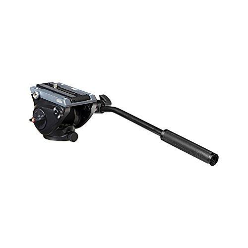 Manfrotto MVH500AH Kompakt Fluid Videoneiger (Inkl. flacher Basis (1/4 Zoll) und (3/8 Zoll) Gewinde) schwarz