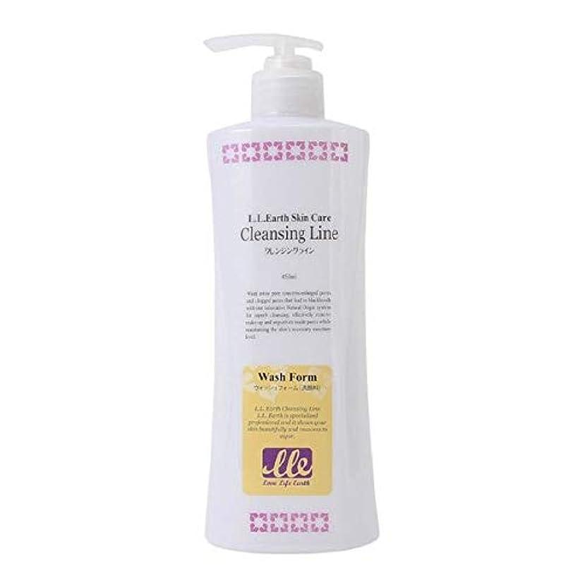 攻撃的検査カールLLE ウォッシュフォーム 業務用 450ml 洗顔 洗顔料 クリームタイプ アロエベラ