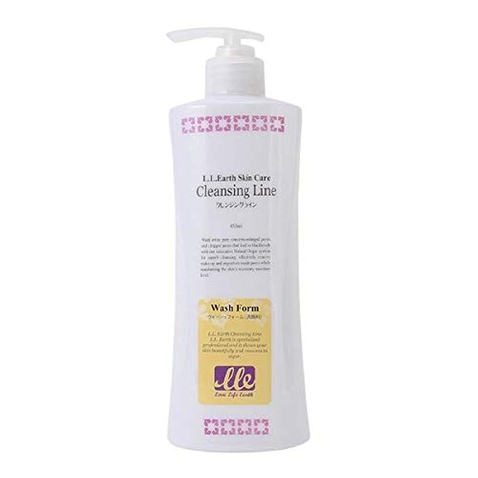 絶妙何十人も回復するLLE ウォッシュフォーム 業務用 450ml 洗顔 洗顔料 クリームタイプ アロエベラ