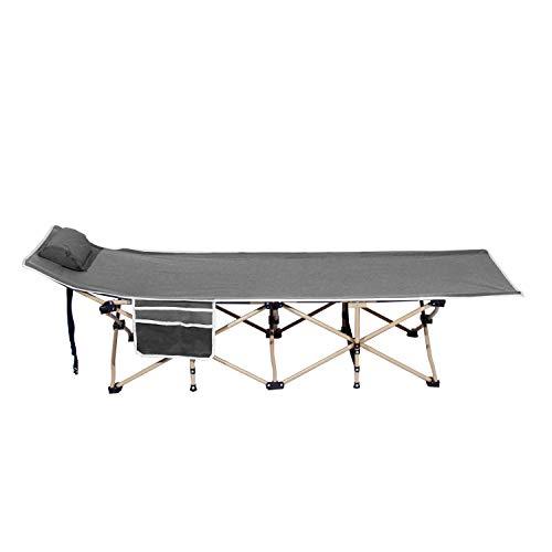 SogesHome Sonnen-und Gartenliege Verstellbarer Liegestuhl mit Seitentasche und Kissen für Camping Freizeit Strandbett Gartenbett150 kg Belastbar, 190 x 67 x 36 cm, NSD-CT-Y10G-01