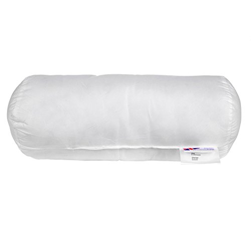 Homescapes Nackenrolle, 45 x 20 cm, Nackenkissen mit 100% Super-Mikrofaser-Füllung, ideal als Reisekissen, Lesekissen oder Schlafkissen, allergikergeeignet