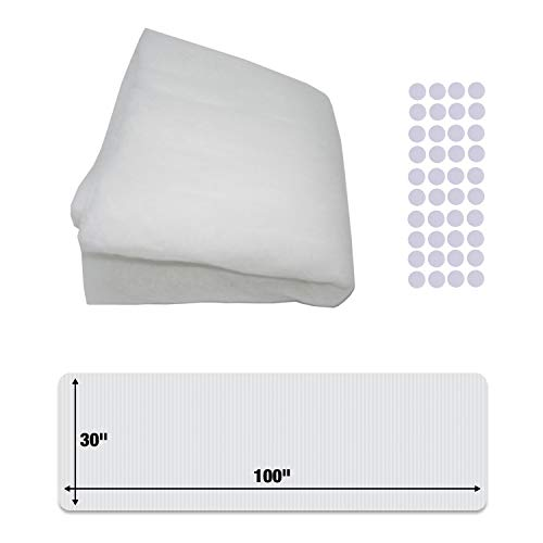 "Vent Filters & Air Vent Filters,Vent Filters Register Kit - 100""x 30"" MERV 5 Electrostatic Filter Media & 3/4"" Hook tabs (up to 75+ Filters per Roll). Dust and Allergy Reduction. Cut to Fit."