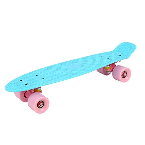Nobran Skateboards,Original Vintage Retro Cruiser Skateboard für Kinder und Erwachsene auch Anfänger ab ca. 6-10 Jahre | 57x15cm Kinderskateboard Retroboard (Blau)
