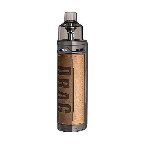 Cigarettes électroniques Kit VOOPOO DRAG X 18650 Mod Pod Kit avec une grande capacité de jus de 4,5 ml sans nicotine (Retro)