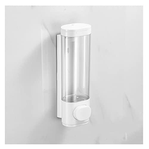 MKLPO Tamaños1, 2Chamber Baño montado en la Pared Bomba de baño Dispensador de loción plástica Los dispensadores de loción sostienen champú, jabón (Negro/Blanco)