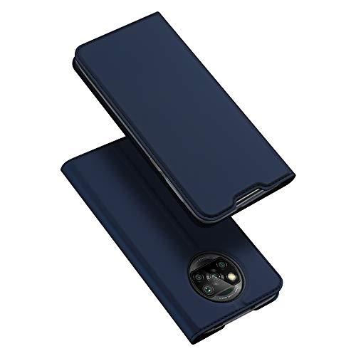 DUX DUCIS Hülle für Xiaomi Poco X3 NFC/Poco X3 Pro, Leder Klappbar Handyhülle Schutzhülle Tasche Hülle mit [Kartenfach] [Ständer] [Magnetisch] für Xiaomi Poco X3 NFC/Poco X3 Pro (Blau)