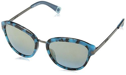 Sting Damen Ss6585 Sonnenbrille, Blau (SHINY LIGHT BLUE HAVANA), Einheitsgröße